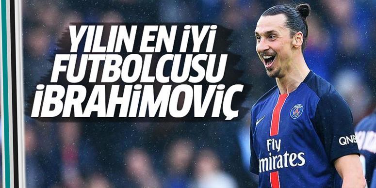 İbrahimoviç'e 'En iyi futbolcu' ödülü
