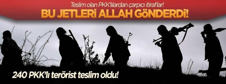 240 PKK'lı terörist teslim oldu!