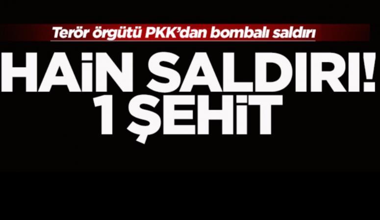 Diyarbakır'da askere hain saldırı: 1 şehit