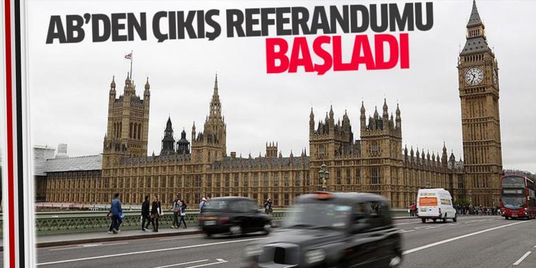 İngilizler AB'den çıkmak için oy kullanıyor