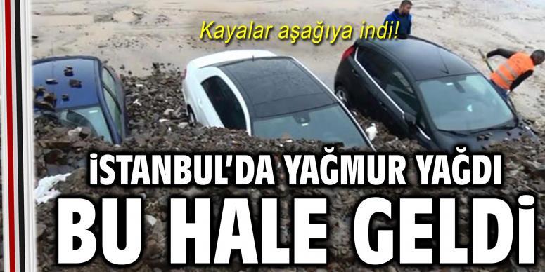 İstanbul'da yağmur yağdı bu hale geldi