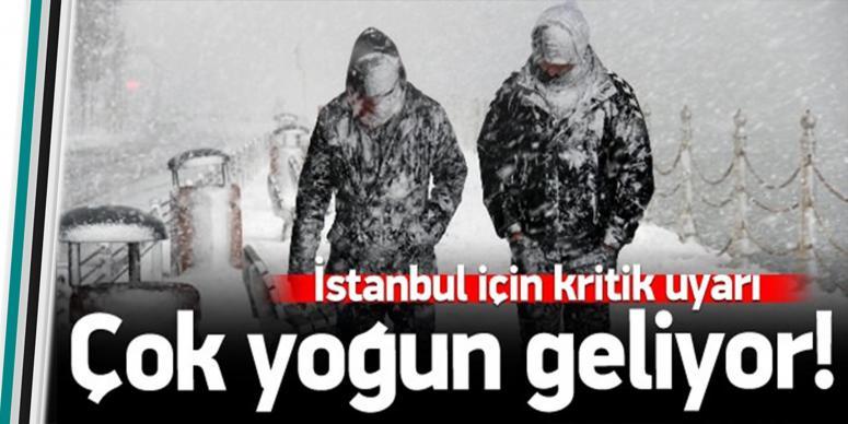 İstanbul'da kar 20 cm'i bulacak