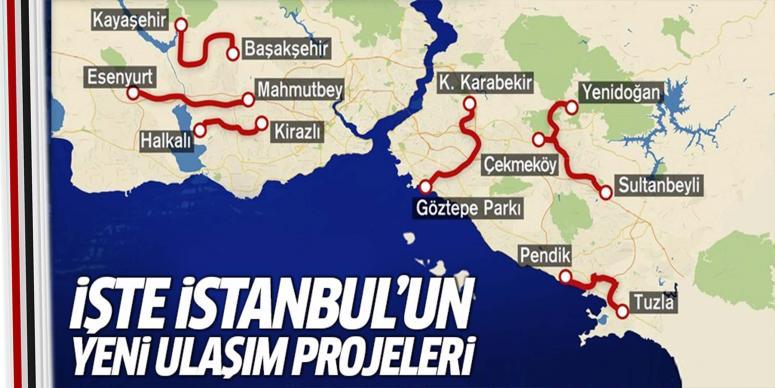 İşte İstanbul'un yeni ulaşım projeleri!