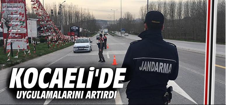 Jandarma Kocaeli'de uygulamalarını artırdı
