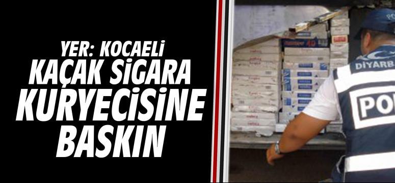 Kaçak sigara kuryecisine şok baskın