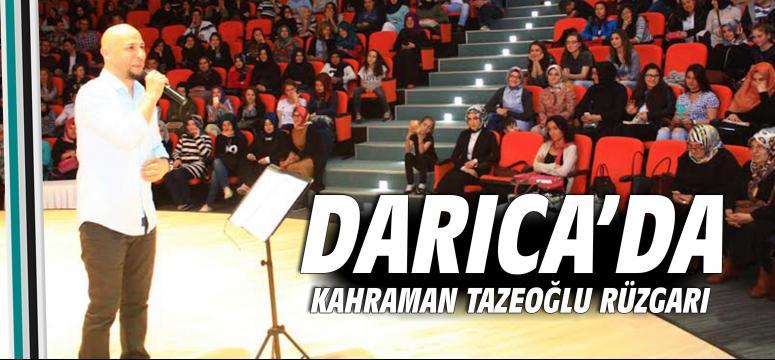 Kahraman Tazeoğlu Darıca'da Gençlerle Buluştu