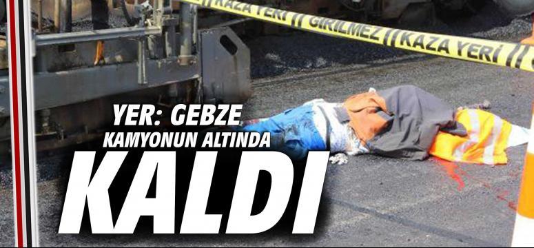 Gebze'de feci iş kazası