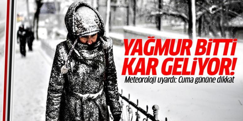 Cuma günü kar geliyor