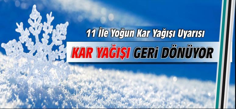 Kar Kocaeli'ye geri dönüyor