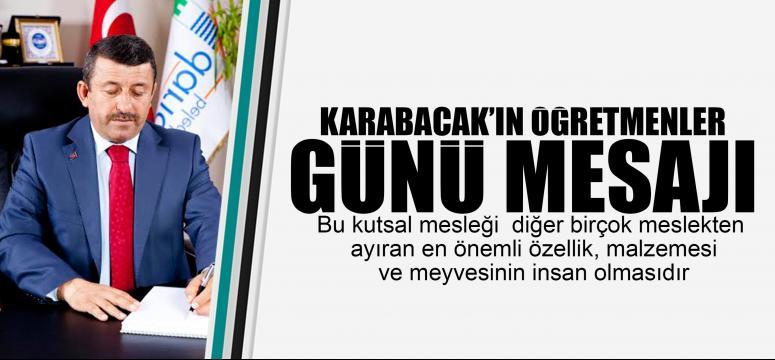Karabacak'ın Öğretmenler günü mesajı
