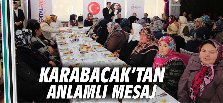 Karabacak'tan anlamlı mesaj