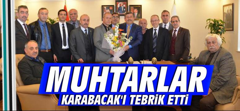 Muhtarlar Karabacak'ı Tebrik Etti