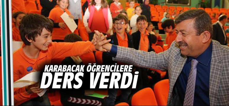Karabacak Öğrencilere Ders Verdi