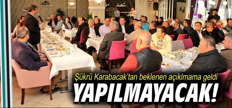 Karabacak'tan beklenen açıklama geldi