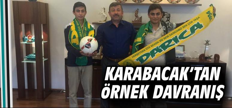 Karabacak'tan örnek davranış