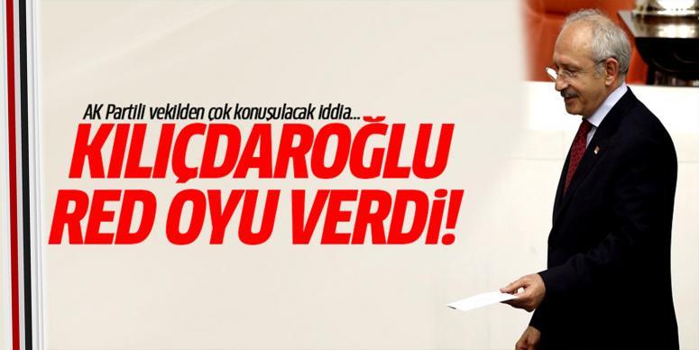 'Kemal Kılıçdaroğlu hayır oyu kullandı!'