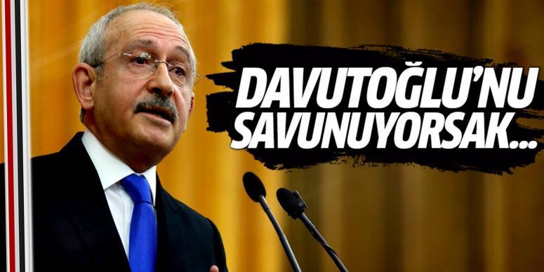 Kılıçdaroğlu'dan Ahmet Davutoğlu açıklaması