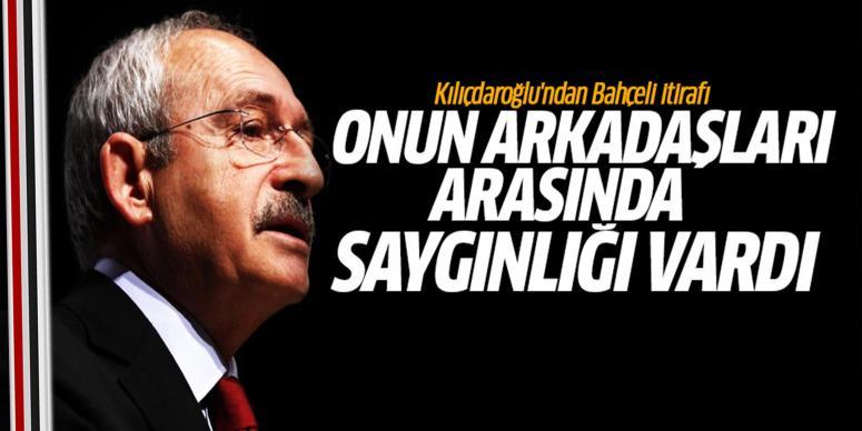 Kılıçdaroğlu'ndan Bahçeli itirafı