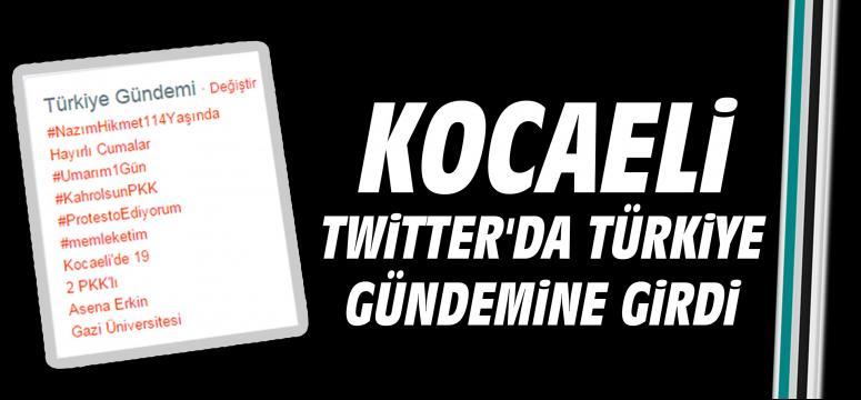 Kocaeli Twitter'da Türkiye gündemine girdi