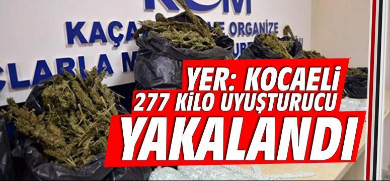 Kocaeli'de 277 Kilo uyuşturucu yakalandı