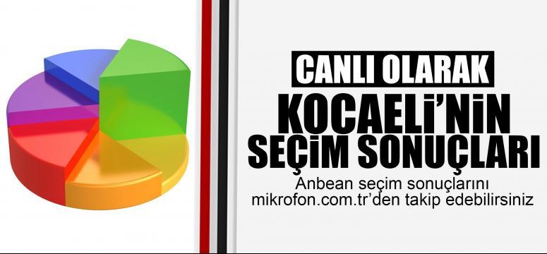 1 Kasım Kocaeli seçim sonuçları (Canlı)