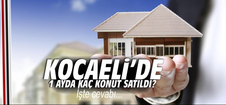 Kocaeli'de bir ayda kaç konut satıldı?
