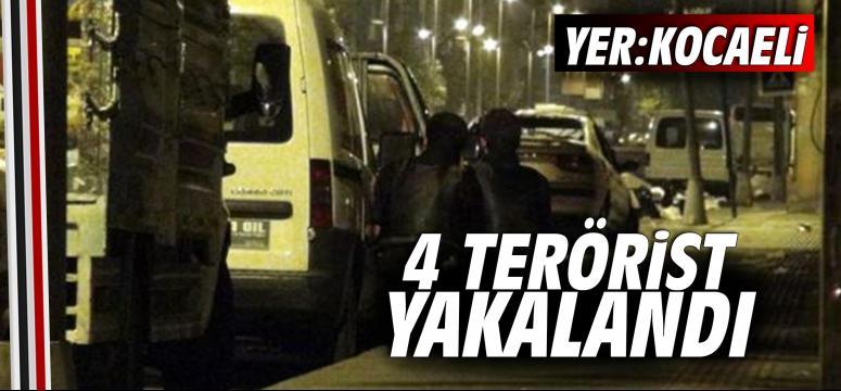 Kocaeli'de 4 terörüst yakalandı