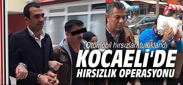Kocaeli'de hırsızlık operasyonu
