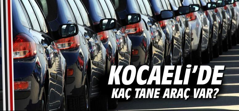Kocaeli'de kaç tane araç var?