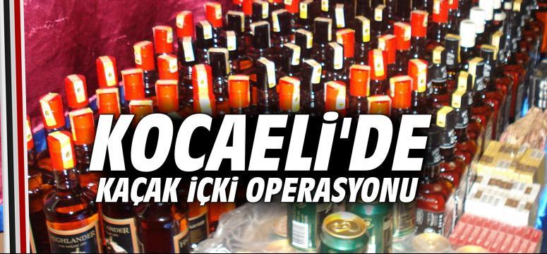 Kocaeli'de Kaçak İçki Operasyonu