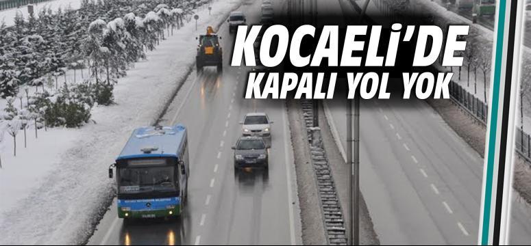 Kocaeli'de kapalı yol bulunmuyor