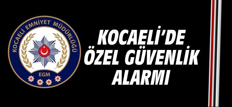 Kocaeli'de özel güvenlik alarmı
