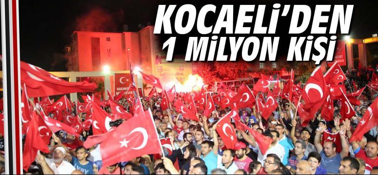 Kocaeli'den 1 milyon kişi