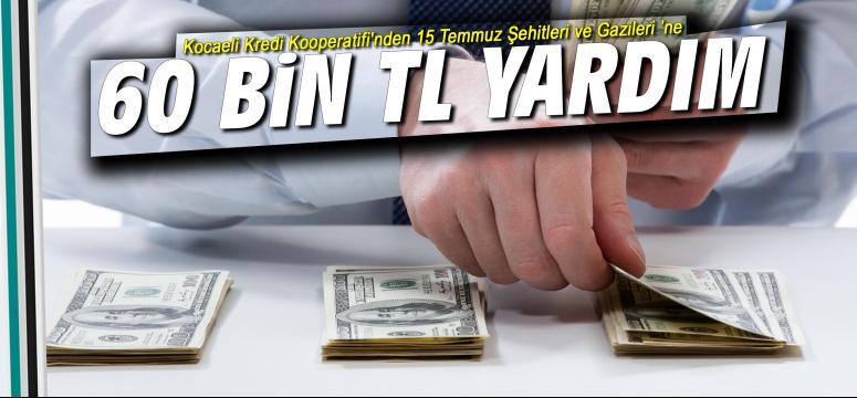 Kocaeli Kredi Kooperatifi'nden 60 bin TL Yardım