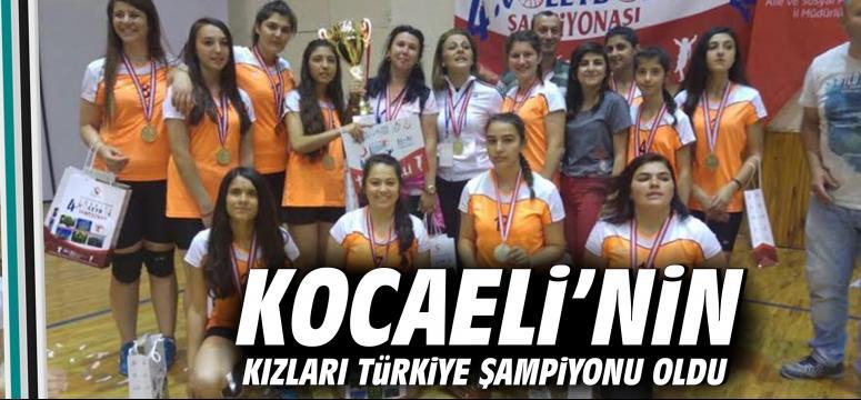 Kocaeli'nin Kızları Türkiye Şampiyonu Oldu