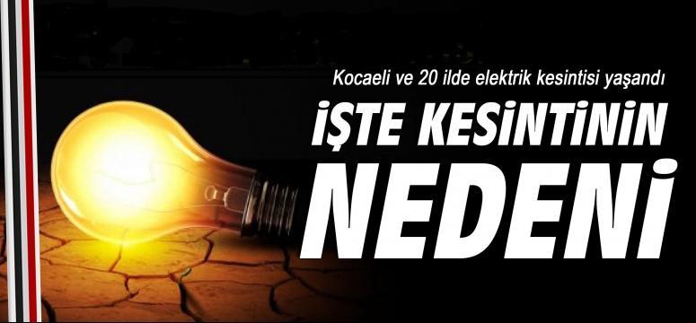 Kocaeli ve 20 ilde elektrik kesintisi yaşandı