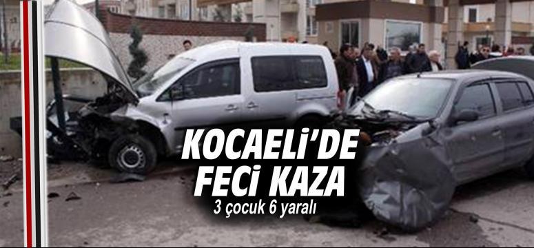 Kocaeli'nde trafik kazası: 3'ü çocuk 6 yaralı