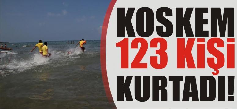 KOSKEM 123 kişi daha kurtardı