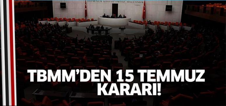Meclis oy birliğiyle karar verdi