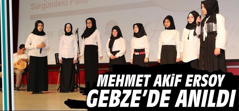 Milli şair Gebze'de anıldı