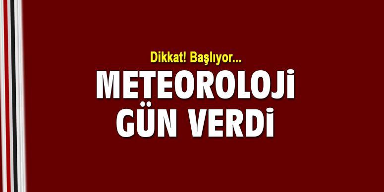 Meteoroloji gün verdi