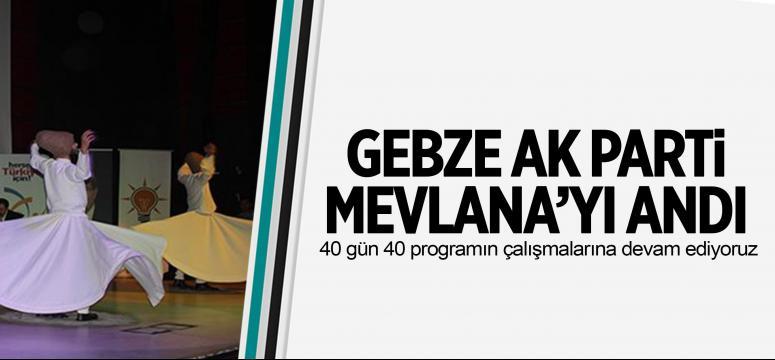 AKP'li gençler Mevlana'yı andı