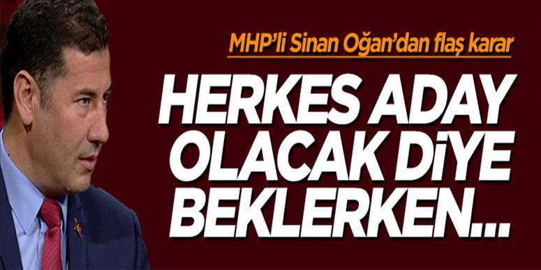 MHP'de Sinan Oğan'dan sürpriz çıkış