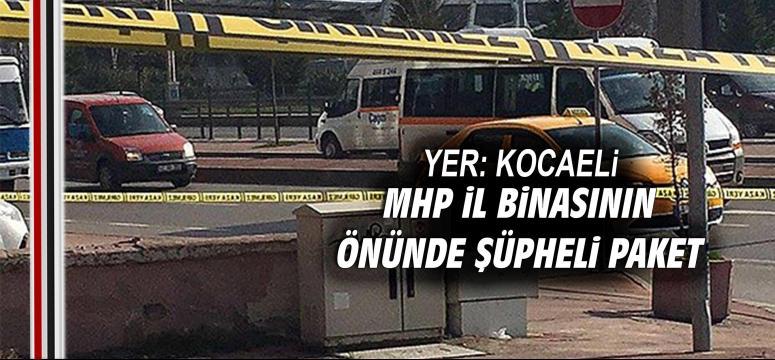 MHP İl binasının önünde şüpheli paket