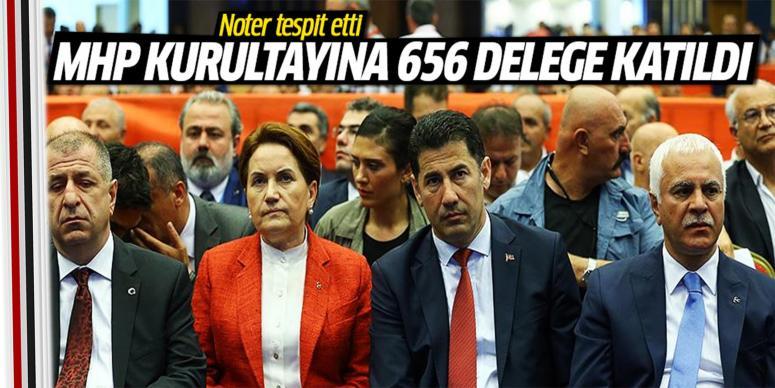 MHP kurultayına 656 delege katıldı