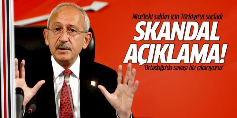 Nice'teki saldırı için Türkiye'yi suçladı