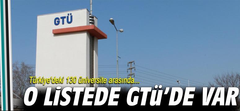 O listede GTÜ'de var