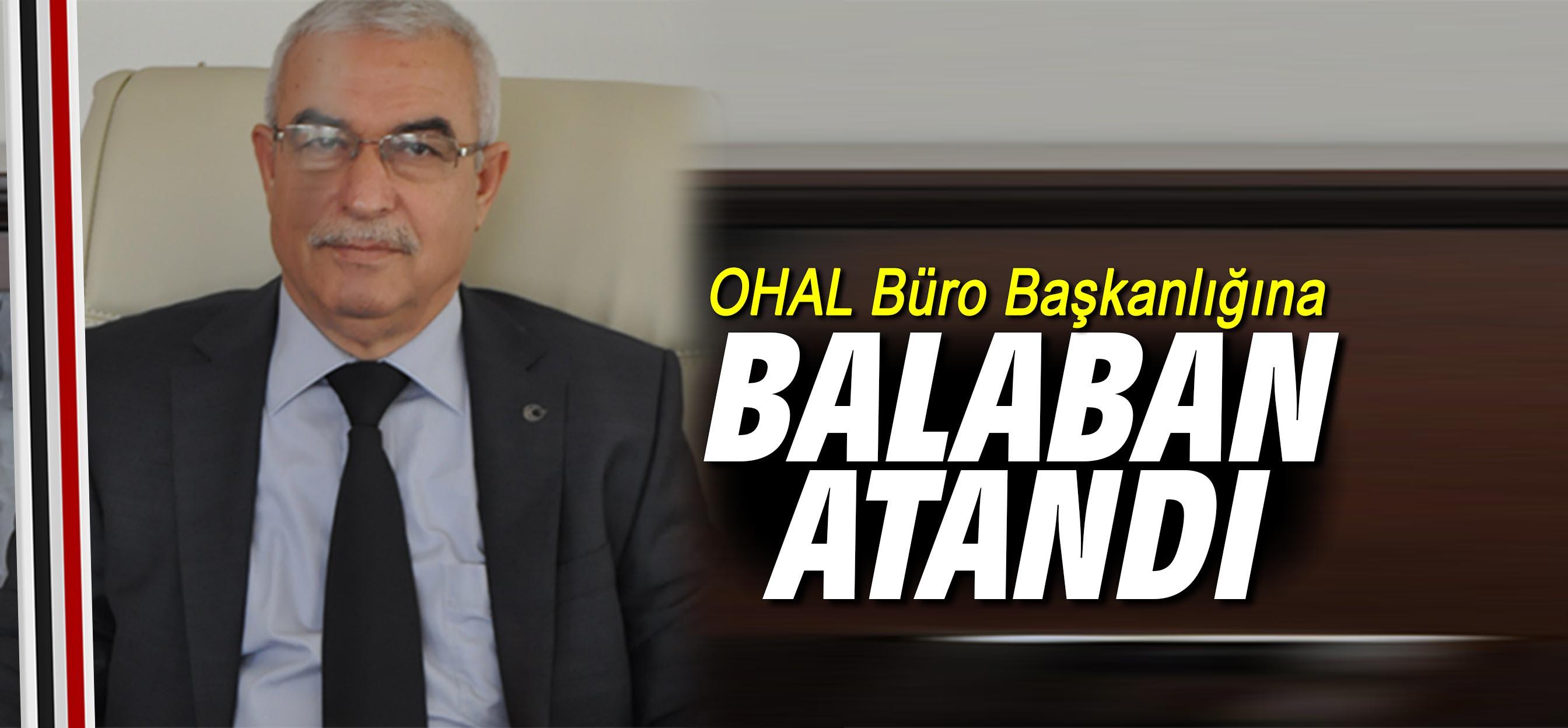 OHAL Büro Başkanlığına Balaban atandı
