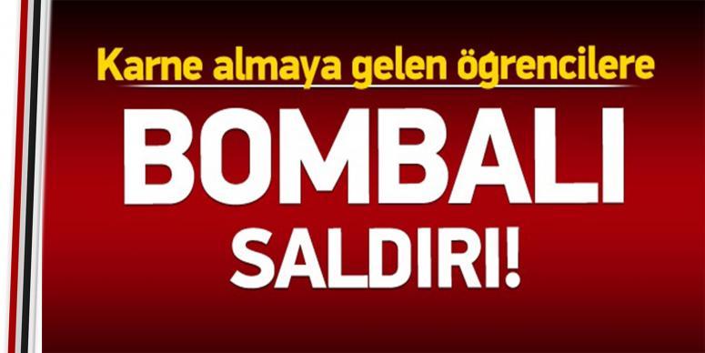 Okula bomba atıldı: Yaralılar var