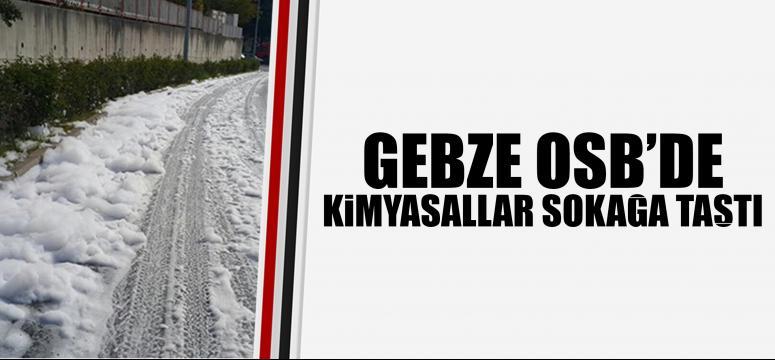 Gebze Osb'de kimyasallar sokağa taştı